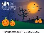 happy halloween | Shutterstock .eps vector #731520652