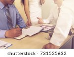 business team meeting and... | Shutterstock . vector #731525632