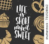 set of bakery elements and... | Shutterstock . vector #731528062