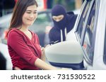 thief dangerous man or masked... | Shutterstock . vector #731530522