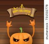 vector halloween funky rock n... | Shutterstock .eps vector #731532778