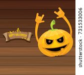 vector halloween funky rock n... | Shutterstock .eps vector #731533006