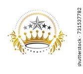 royal crown emblem. heraldic... | Shutterstock .eps vector #731537782