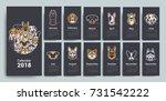 design template calendar 2018.... | Shutterstock .eps vector #731542222