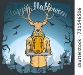 vector illustration of deer...   Shutterstock .eps vector #731546506