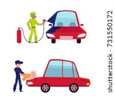 auto mechanic  car service... | Shutterstock .eps vector #731550172