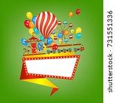 flat style amusement park... | Shutterstock .eps vector #731551336