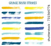 watercolor  ink or paint brush... | Shutterstock .eps vector #731564776