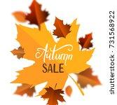 vector illustration of autumn... | Shutterstock .eps vector #731568922