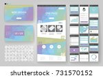 website template  one page... | Shutterstock .eps vector #731570152