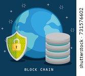 block chain tecnology concept | Shutterstock .eps vector #731576602