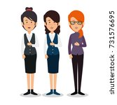 profesional business people | Shutterstock .eps vector #731576695