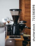 coffee machine in the coffee...   Shutterstock . vector #731580898