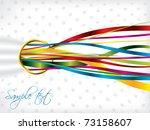 ribbon backdrop design | Shutterstock .eps vector #73158607