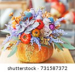 Bright Autumn Composition In A...