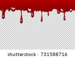 halloween realistic dripping... | Shutterstock .eps vector #731588716