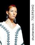 fashion models represent... | Shutterstock . vector #731592442