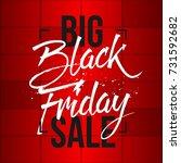 abstract vector black friday... | Shutterstock .eps vector #731592682