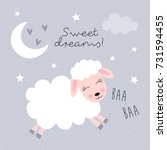 Sweet Dreams Sheep Vector...