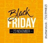 abstract vector black friday... | Shutterstock .eps vector #731594815