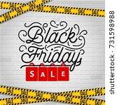 abstract vector black friday...   Shutterstock .eps vector #731598988