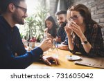 colleagues from work... | Shutterstock . vector #731605042