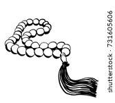 hand drawn islamic prayer beads ...   Shutterstock .eps vector #731605606
