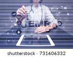 electronic health record. ehr ...   Shutterstock . vector #731606332