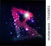 vector alphabet. neon letter | Shutterstock .eps vector #73160851