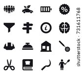 16 vector icon set   team  eco... | Shutterstock .eps vector #731611768