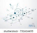 engineering technology vector... | Shutterstock .eps vector #731616655
