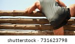 mud race runners participant...   Shutterstock . vector #731623798