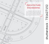 vector technical blueprint of... | Shutterstock .eps vector #731627152