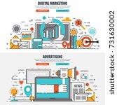 business flat line concept web... | Shutterstock .eps vector #731630002