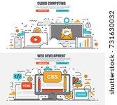 business flat line concept web... | Shutterstock .eps vector #731630032