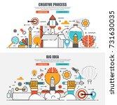business flat line concept web... | Shutterstock .eps vector #731630035