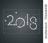 soccer strategy for goal 2018... | Shutterstock .eps vector #731636458