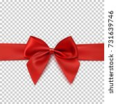 Realistic Red Bow And Ribbon...