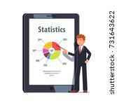 business man standing in front... | Shutterstock .eps vector #731643622