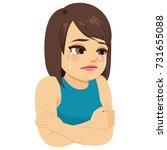 illustration of sad depressed... | Shutterstock .eps vector #731655088