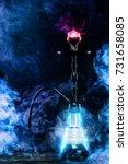 hookah hot coals on bowl with... | Shutterstock . vector #731658085