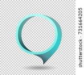 blue frame tag discount sticker.... | Shutterstock .eps vector #731664205