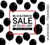 black friday sale background... | Shutterstock .eps vector #731666362