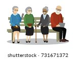 old people or pensioners... | Shutterstock .eps vector #731671372