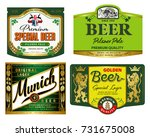 vector set of label templates... | Shutterstock .eps vector #731675008