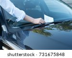 parking violation ticket fine... | Shutterstock . vector #731675848