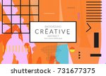 minimal universal banner... | Shutterstock .eps vector #731677375