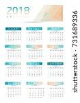 abstract calendar for 2018.week ... | Shutterstock .eps vector #731689336