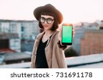 adorable cute and pretty young...   Shutterstock . vector #731691178