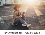 smiling and laughing young...   Shutterstock . vector #731691316